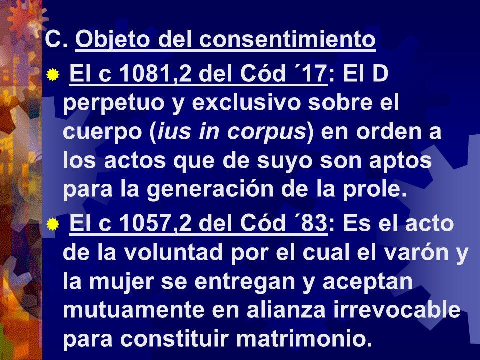 C. Objeto del consentimiento