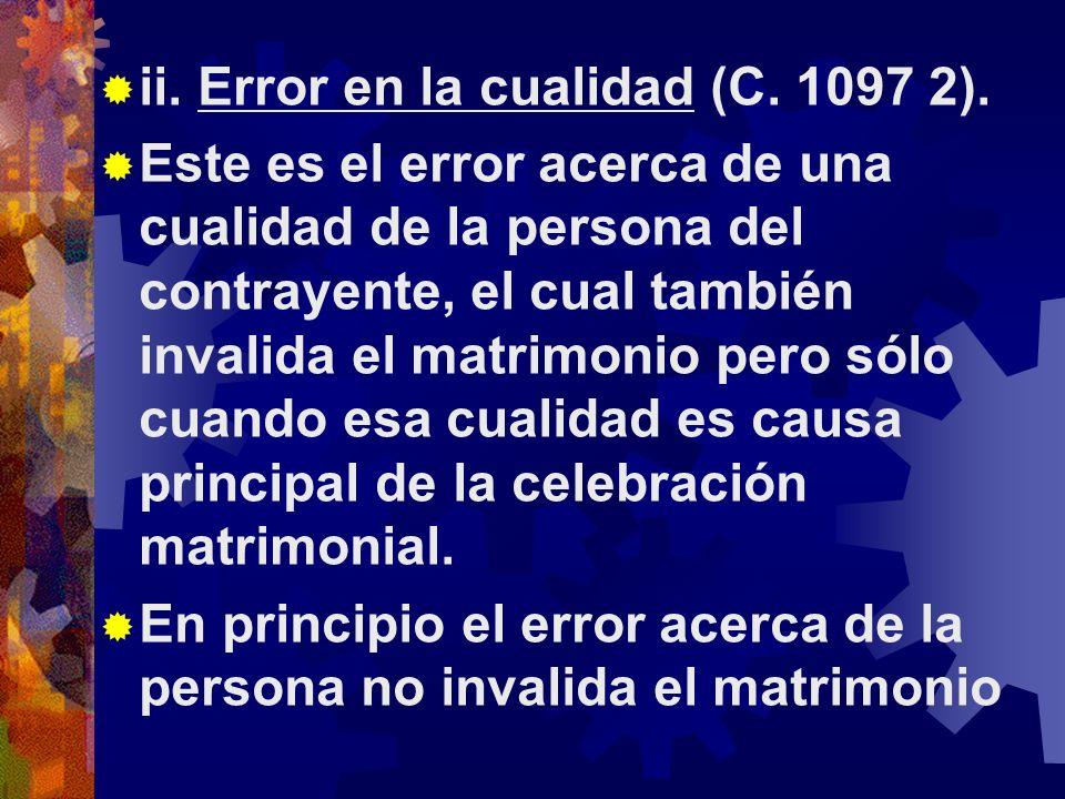 ii. Error en la cualidad (C. 1097 2).