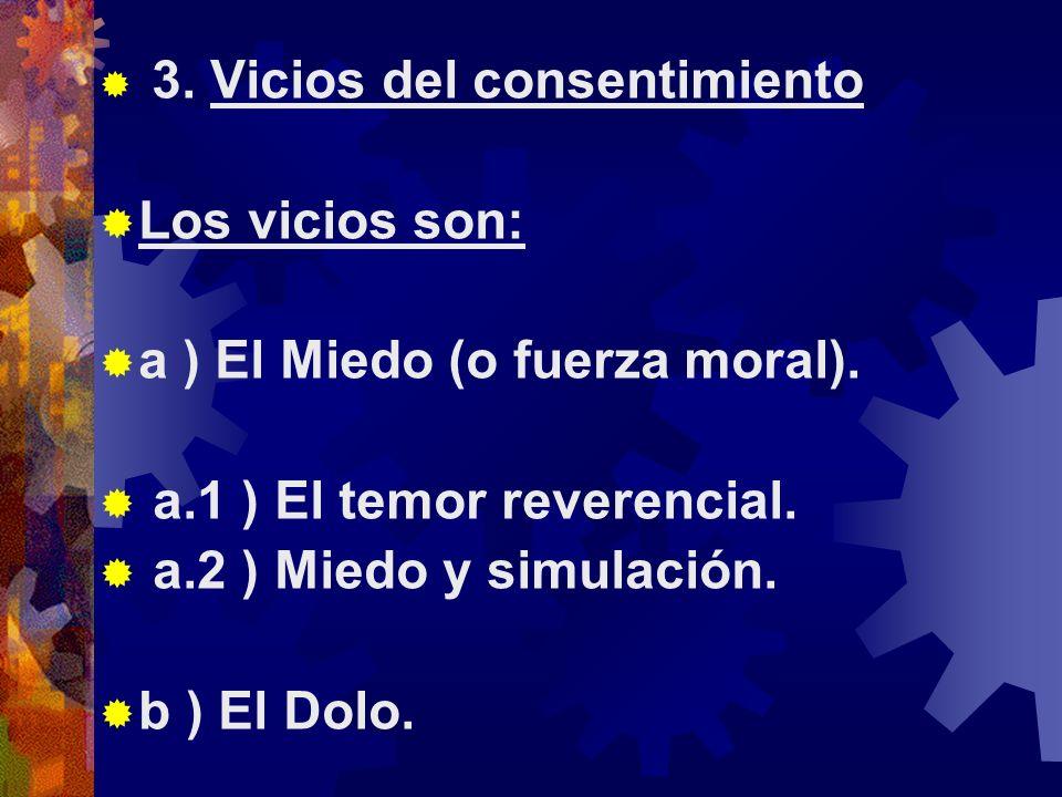 a ) El Miedo (o fuerza moral). a.1 ) El temor reverencial.