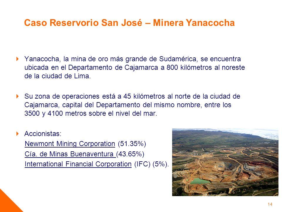 Caso Reservorio San José – Minera Yanacocha