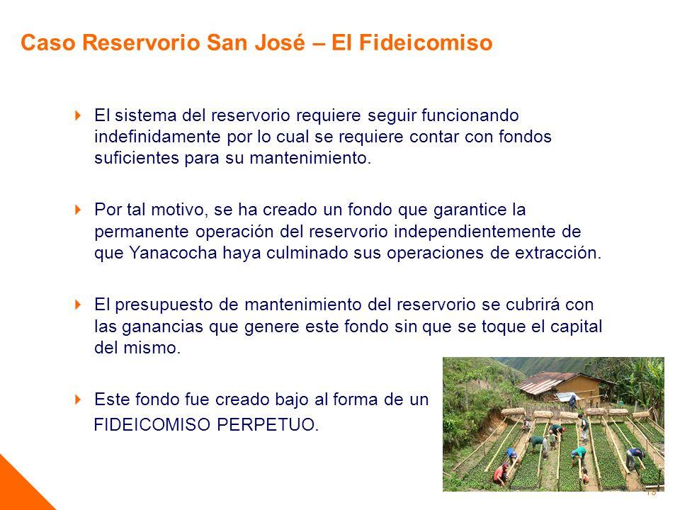 Caso Reservorio San José – El Fideicomiso