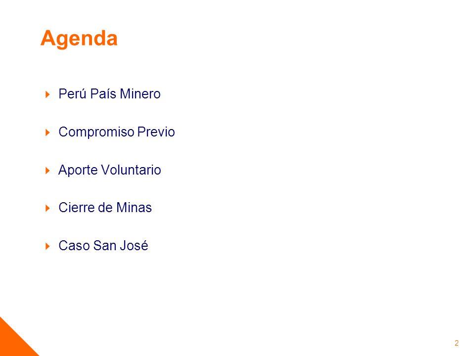Agenda Perú País Minero Compromiso Previo Aporte Voluntario