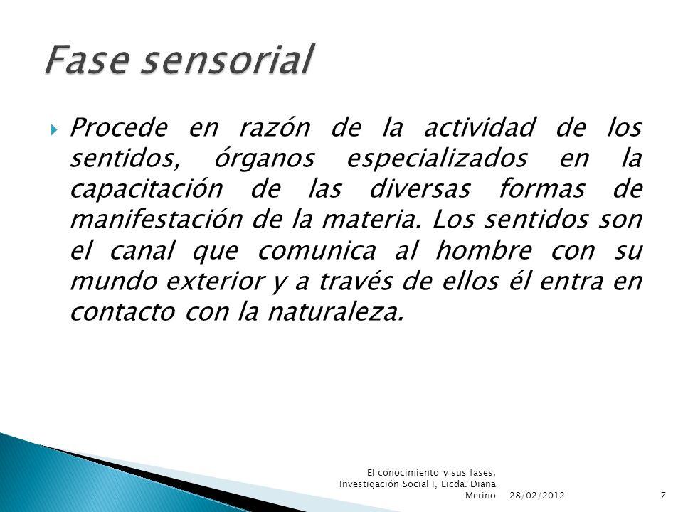 Fase sensorial