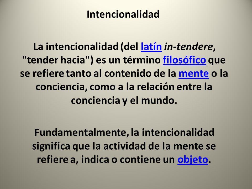 Intencionalidad