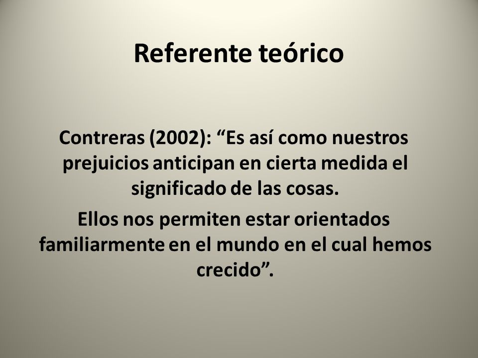 Referente teórico