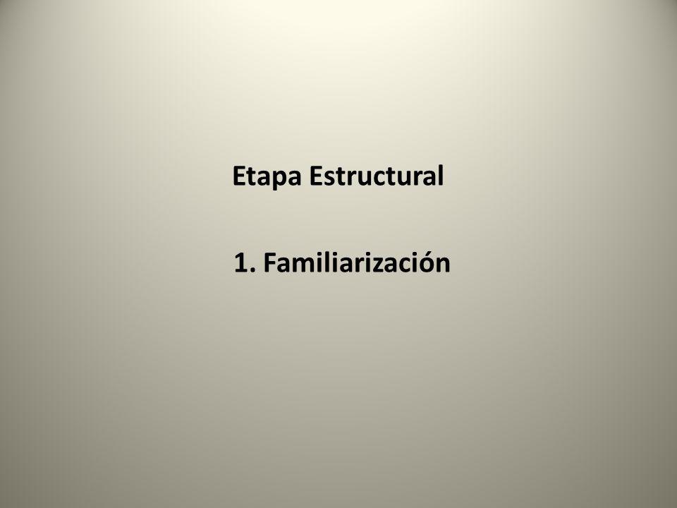 Etapa Estructural 1. Familiarización