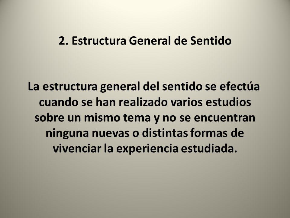 2. Estructura General de Sentido