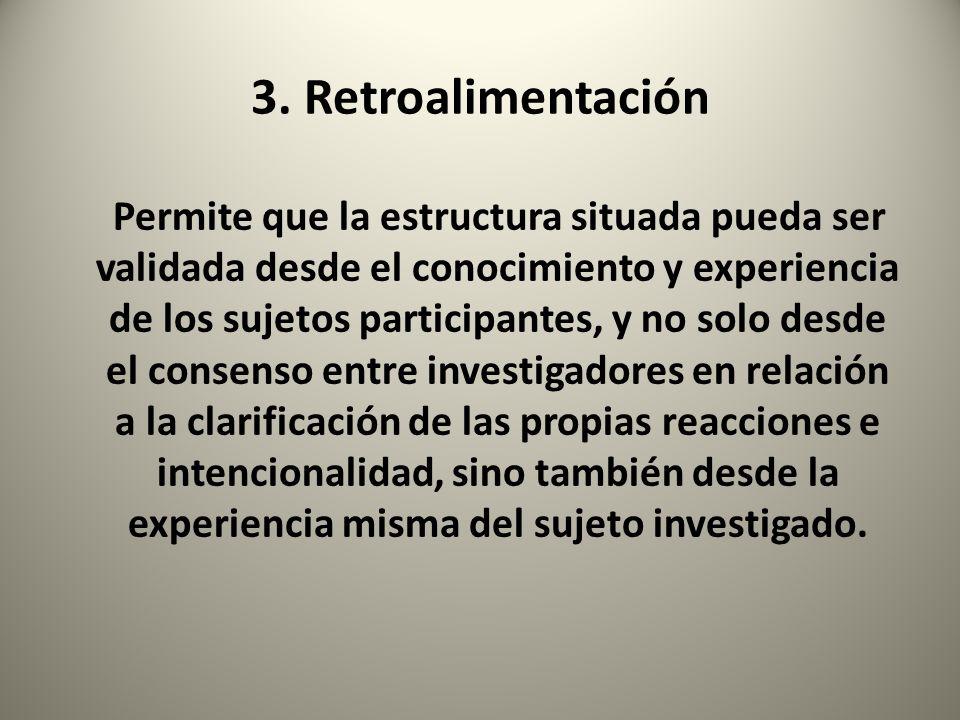 3. Retroalimentación