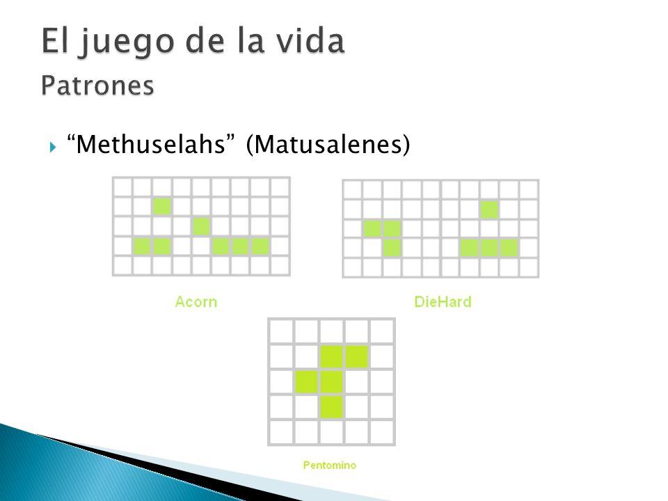 El juego de la vida Patrones Methuselahs (Matusalenes)