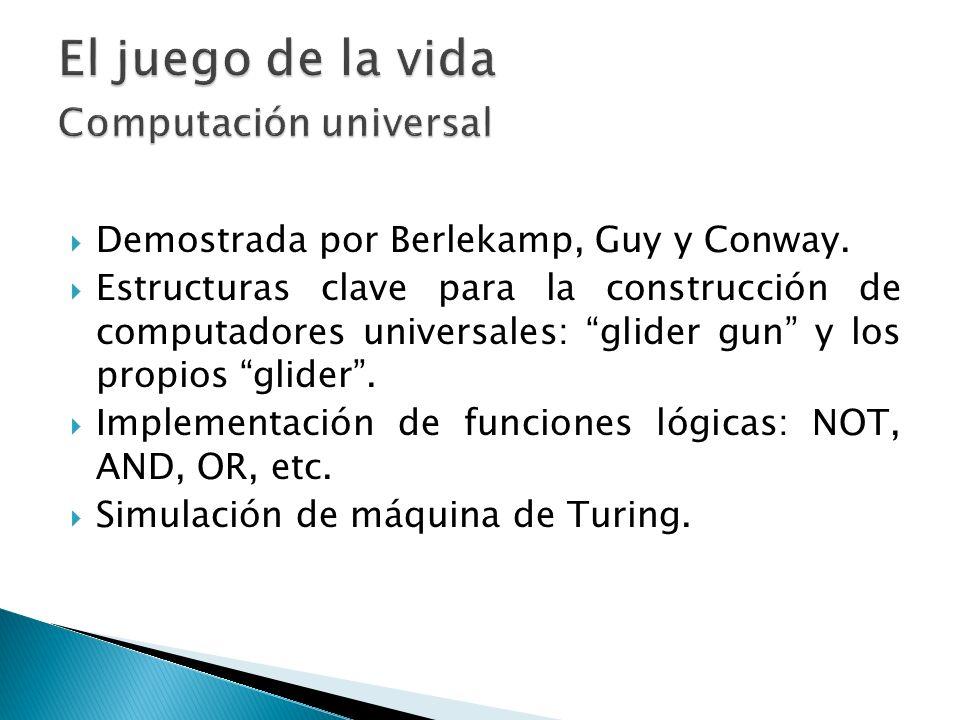 El juego de la vida Computación universal