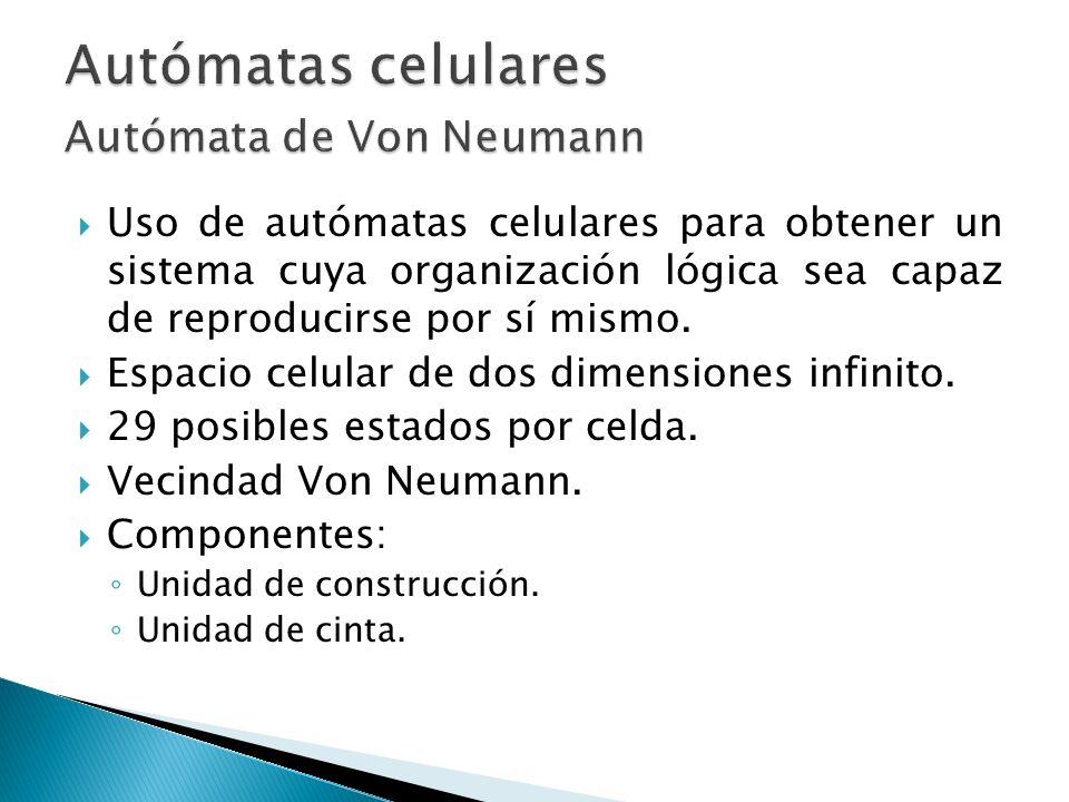 Autómatas celulares Autómata de Von Neumann