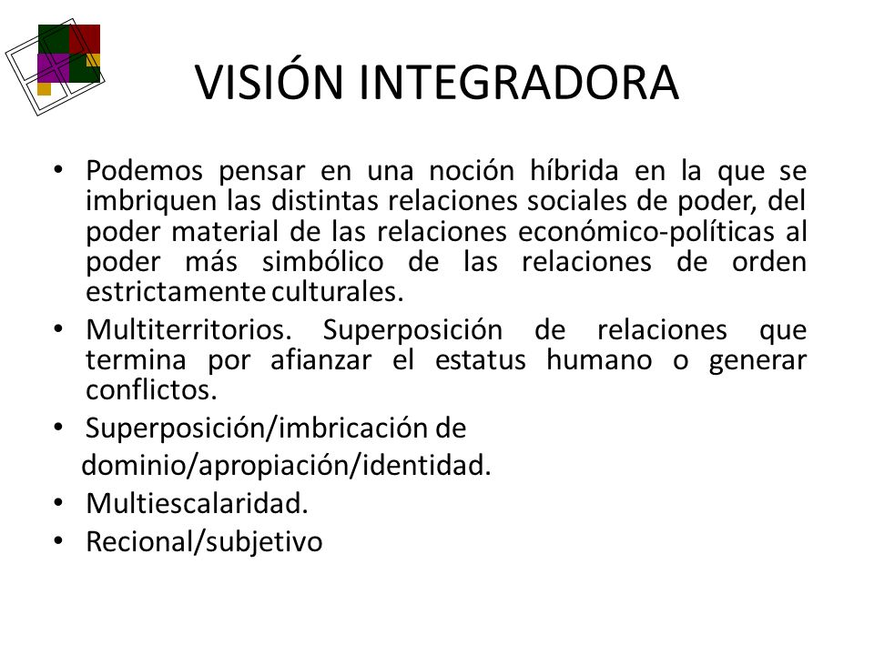 VISIÓN INTEGRADORA