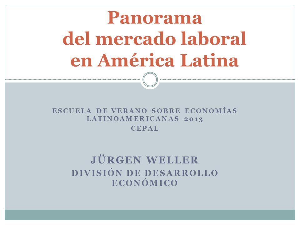 Panorama del mercado laboral en América Latina