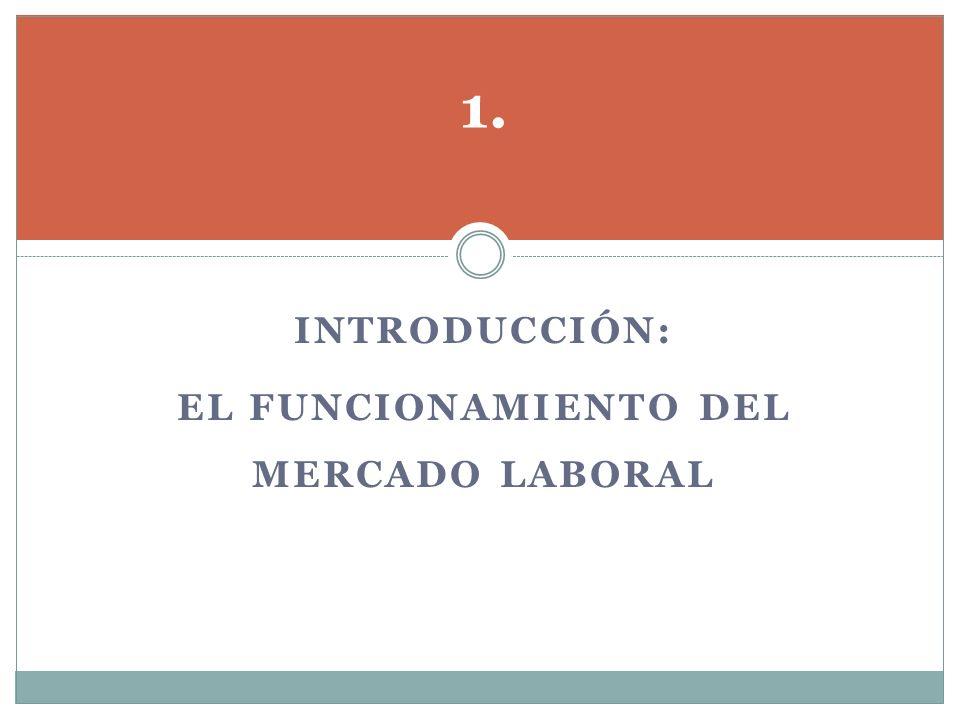 El funcionamiento del mercado laboral