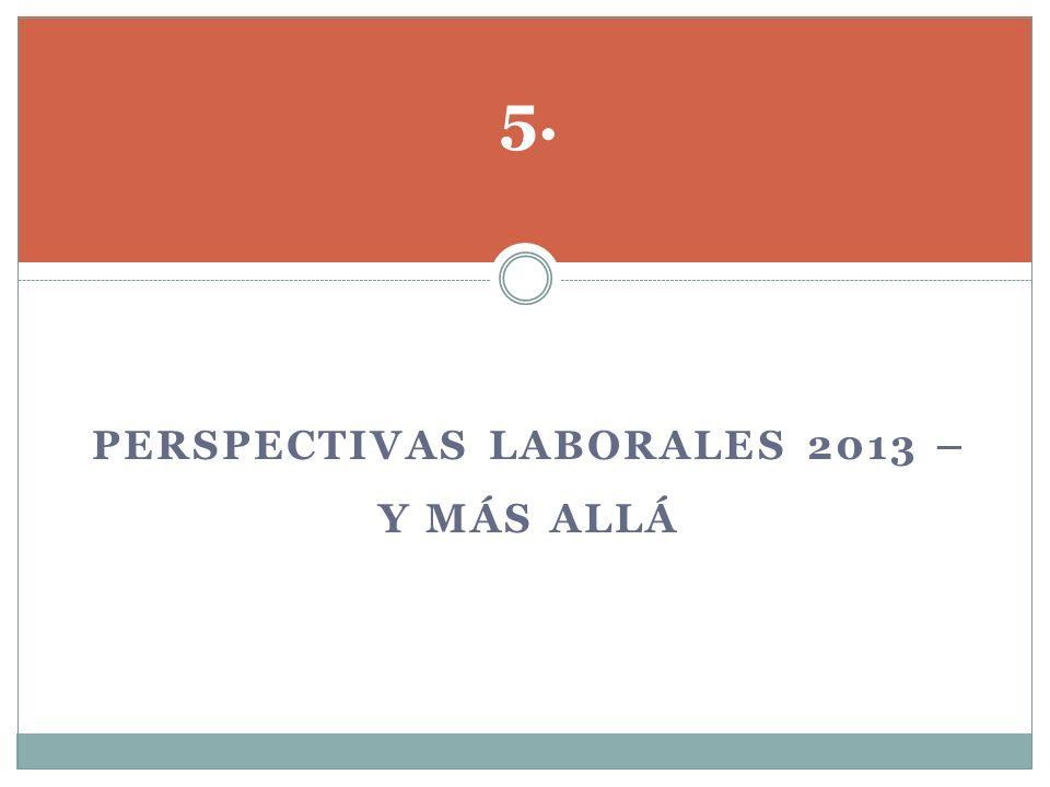 Perspectivas laborales 2013 – y más allá