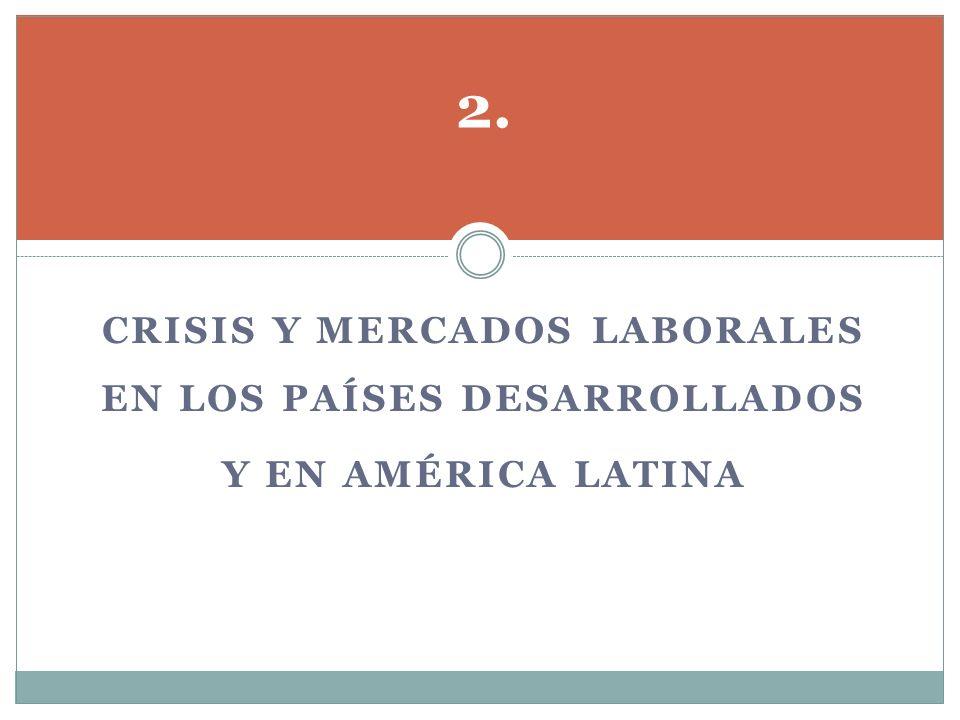 Crisis y mercados laborales en los países desarrollados