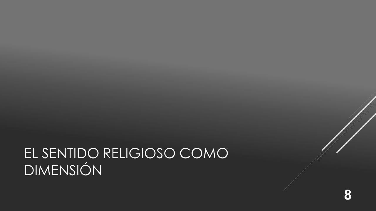 El sentido religioso como dimensión