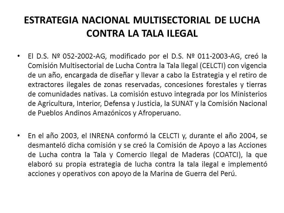 ESTRATEGIA NACIONAL MULTISECTORIAL DE LUCHA CONTRA LA TALA ILEGAL