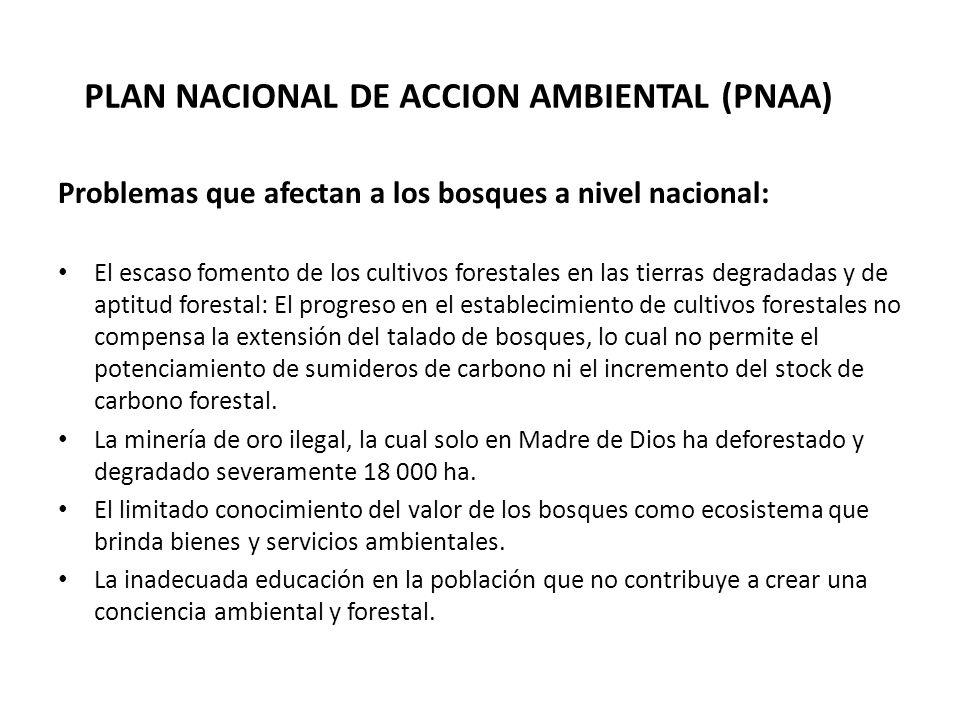PLAN NACIONAL DE ACCION AMBIENTAL (PNAA)