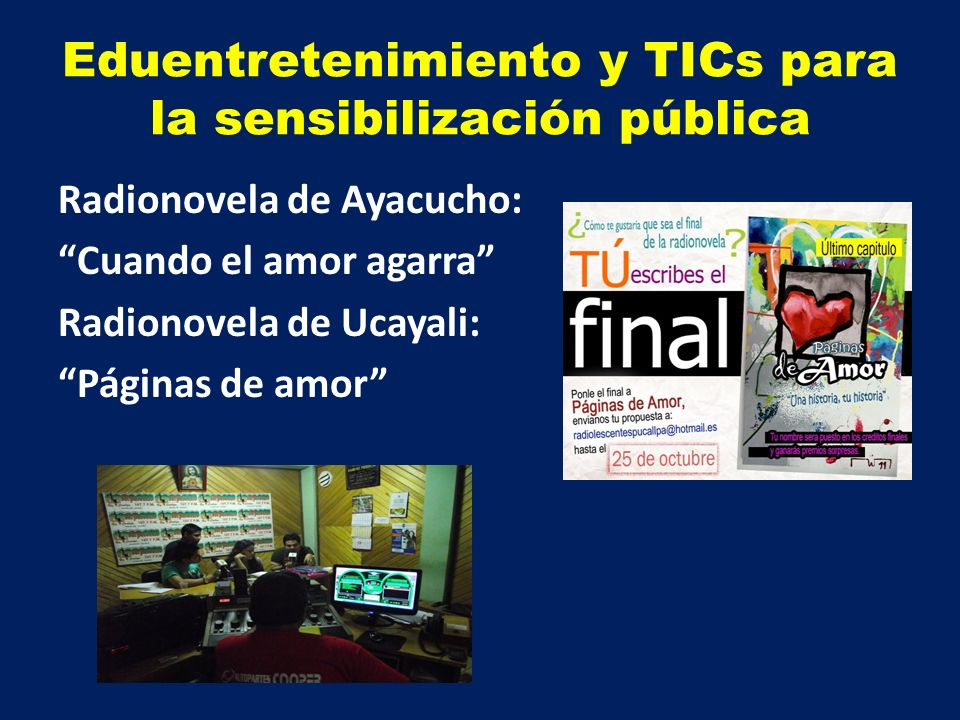 Eduentretenimiento y TICs para la sensibilización pública