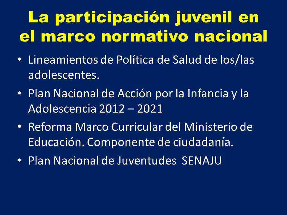 La participación juvenil en el marco normativo nacional