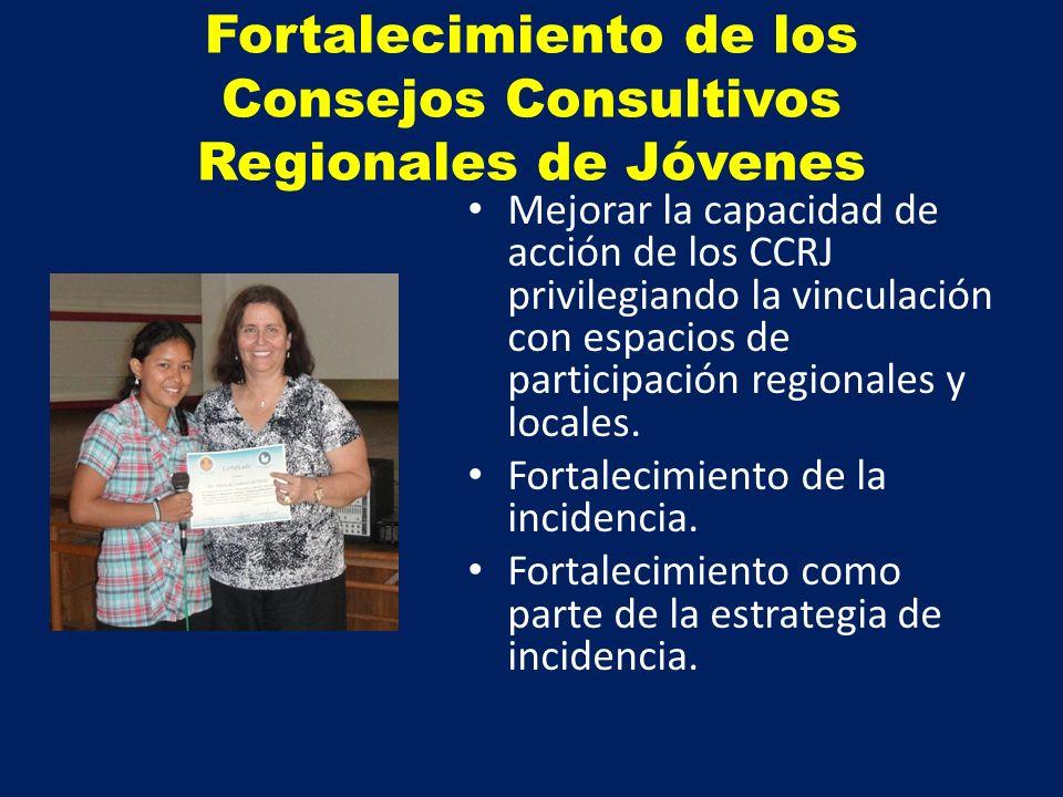 Fortalecimiento de los Consejos Consultivos Regionales de Jóvenes