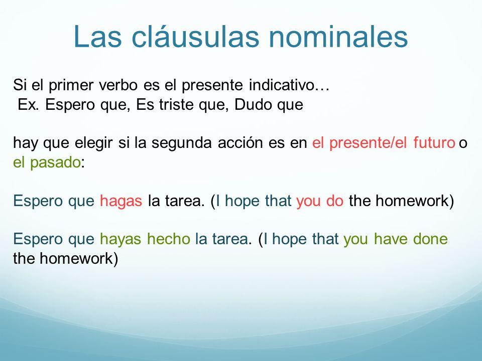 Las cláusulas nominales