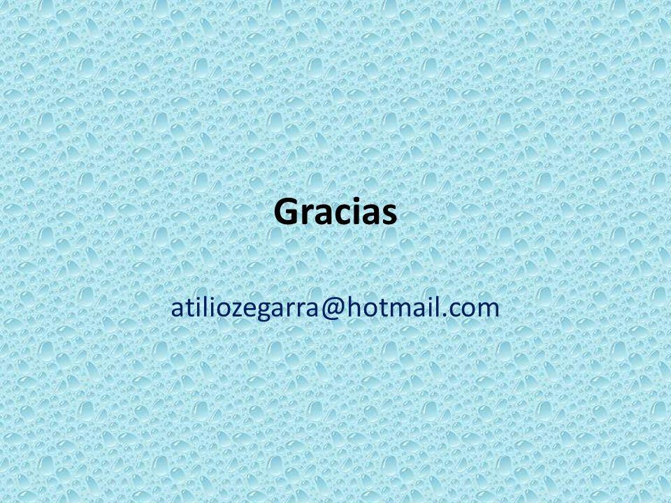 Gracias atiliozegarra@hotmail.com