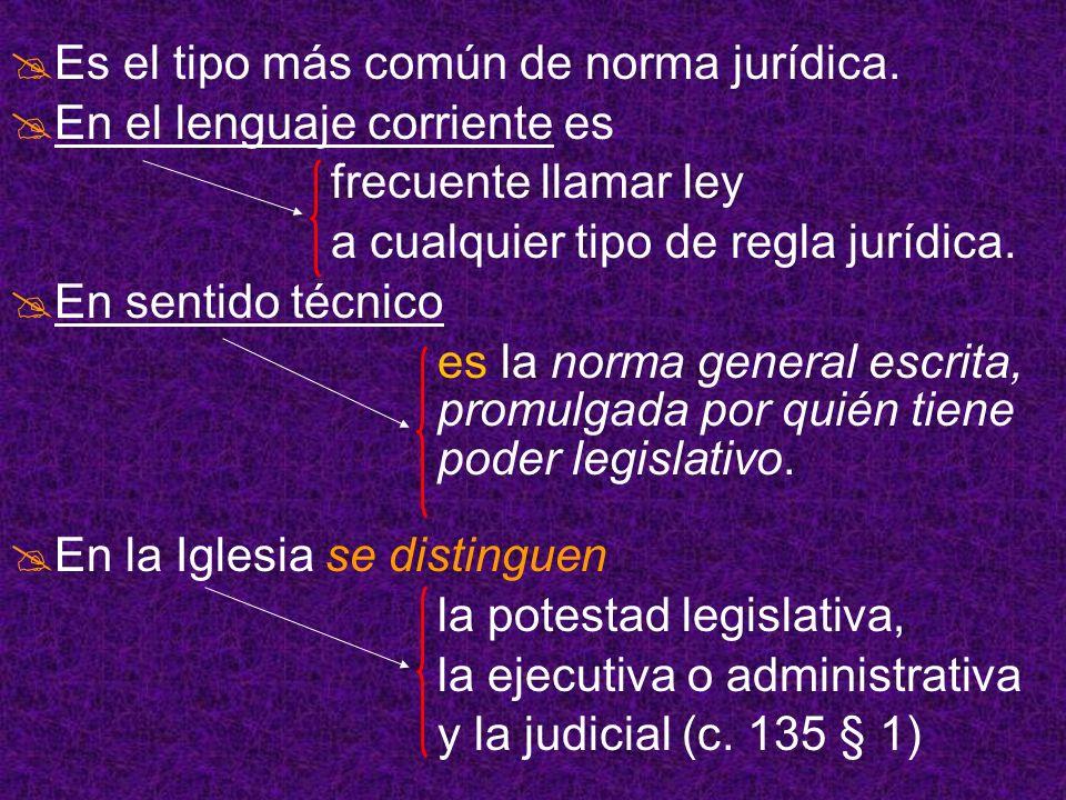 Es el tipo más común de norma jurídica.