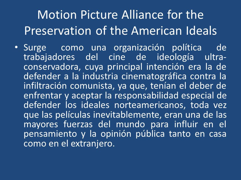 Motion Picture Alliance for the Preservation of the American Ideals