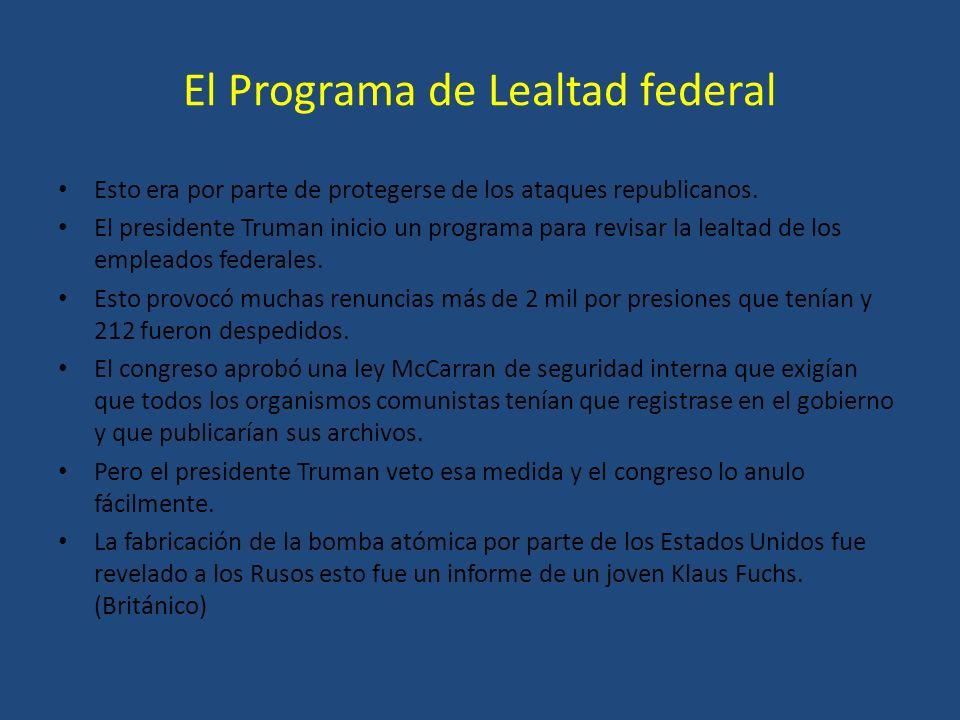 El Programa de Lealtad federal