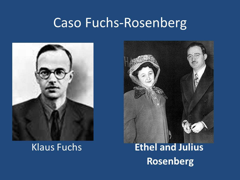 Caso Fuchs-Rosenberg Klaus Fuchs Ethel and Julius Rosenberg