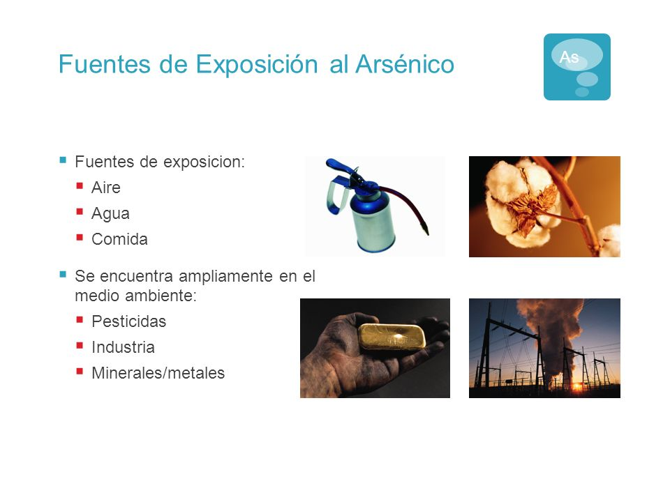 Fuentes de Exposición al Arsénico