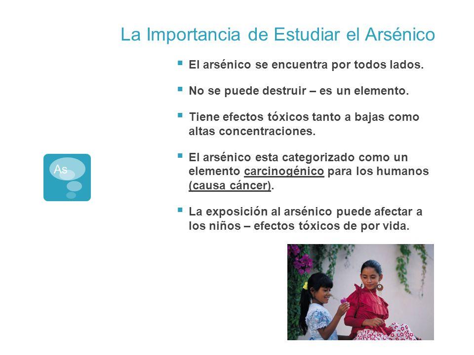 La Importancia de Estudiar el Arsénico