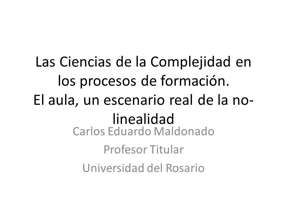 Carlos Eduardo Maldonado Profesor Titular Universidad del Rosario