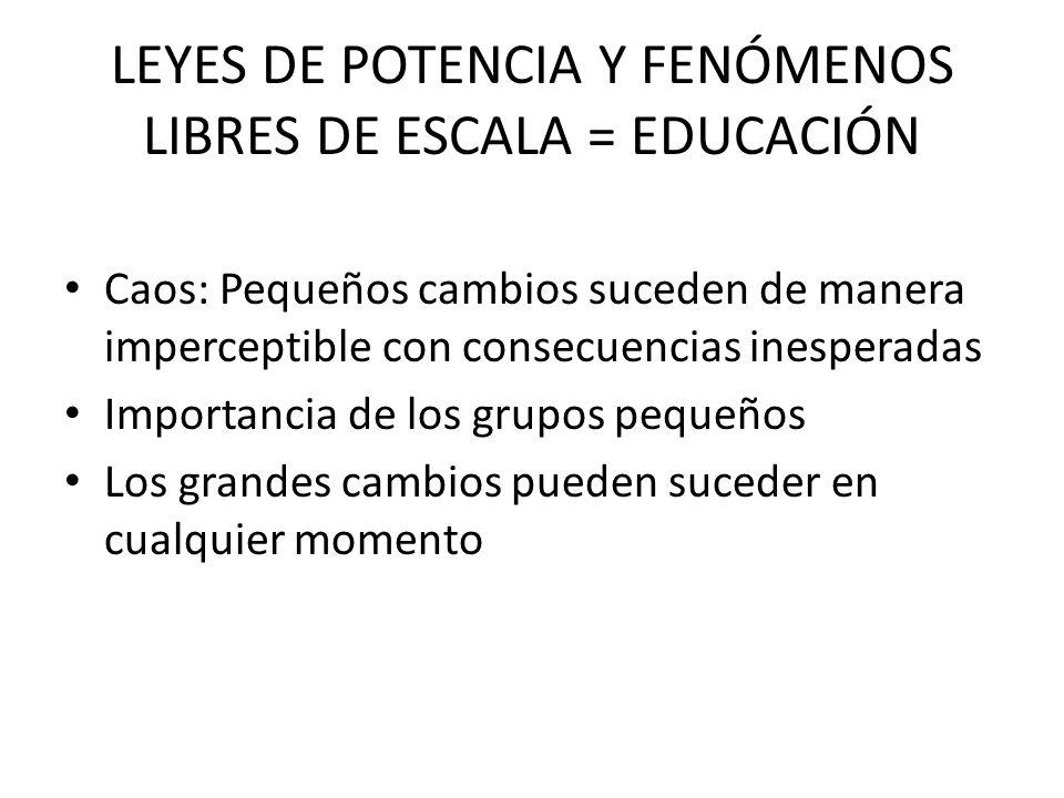 LEYES DE POTENCIA Y FENÓMENOS LIBRES DE ESCALA = EDUCACIÓN