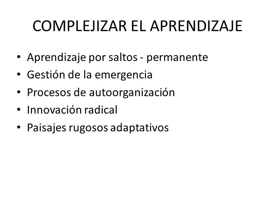 COMPLEJIZAR EL APRENDIZAJE