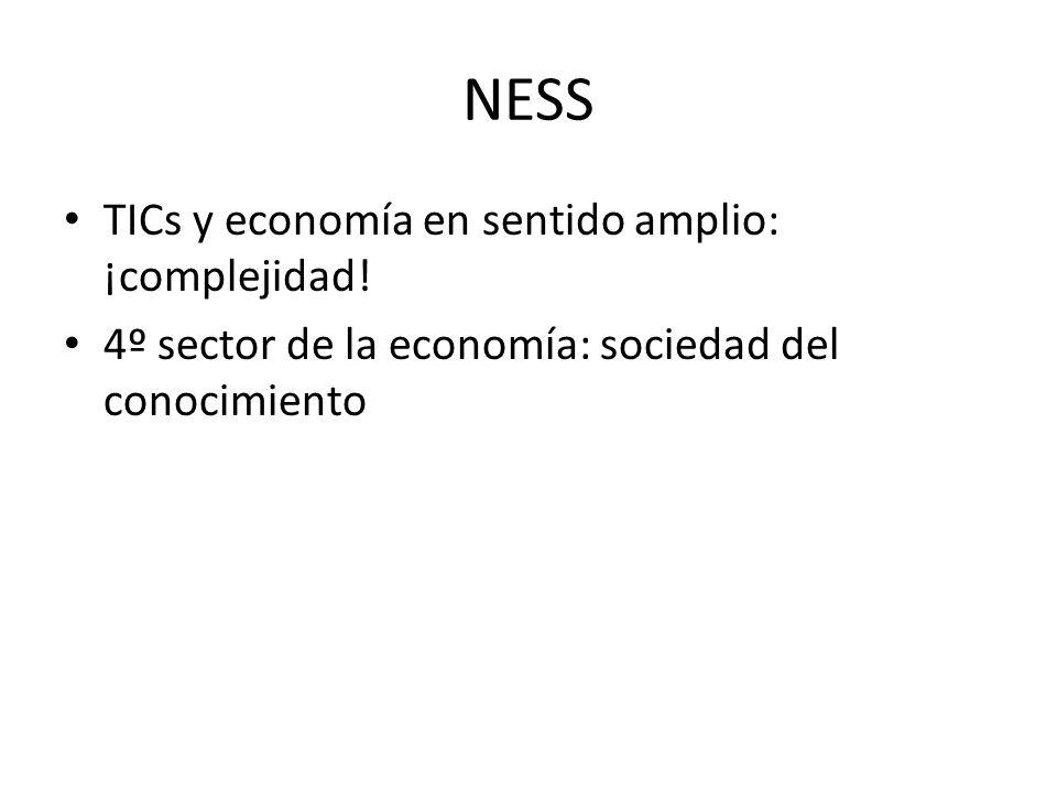 NESS TICs y economía en sentido amplio: ¡complejidad!
