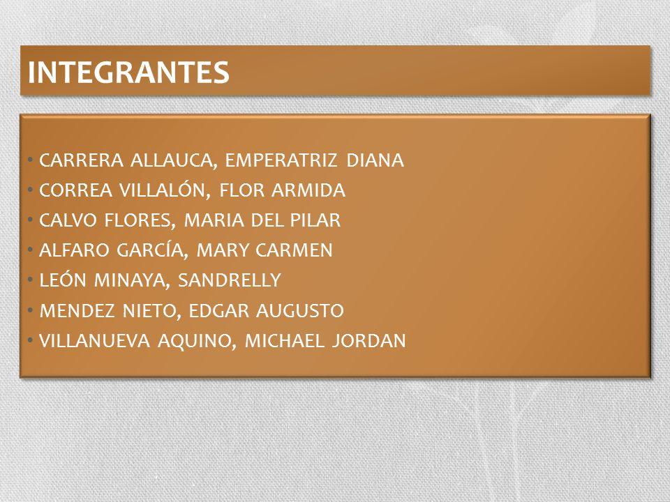 INTEGRANTES CARRERA ALLAUCA, EMPERATRIZ DIANA