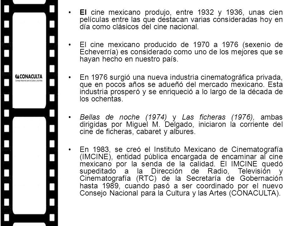 El cine mexicano produjo, entre 1932 y 1936, unas cien películas entre las que destacan varias consideradas hoy en día como clásicos del cine nacional.