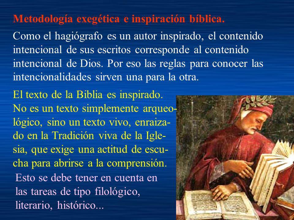 Metodología exegética e inspiración bíblica.