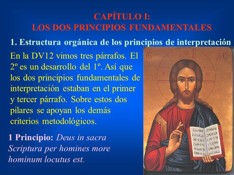 CAPÍTULO I: LOS DOS PRINCIPIOS FUNDAMENTALES
