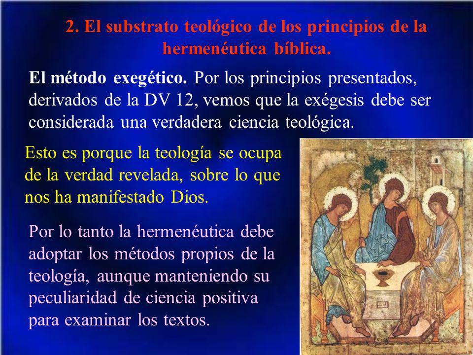 2. El substrato teológico de los principios de la hermenéutica bíblica.