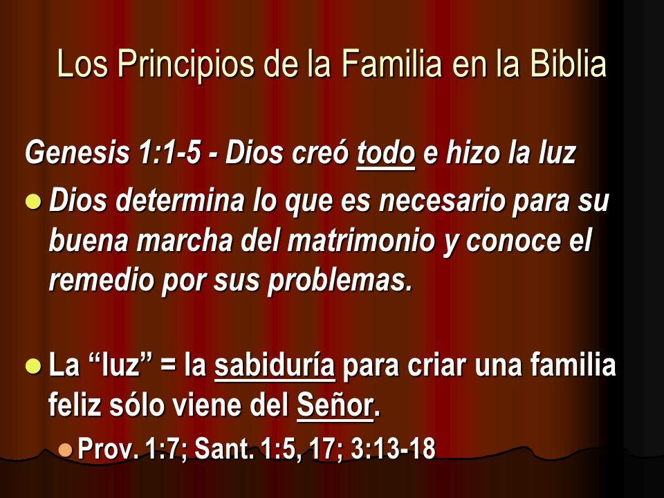 Los Principios de la Familia en la Biblia