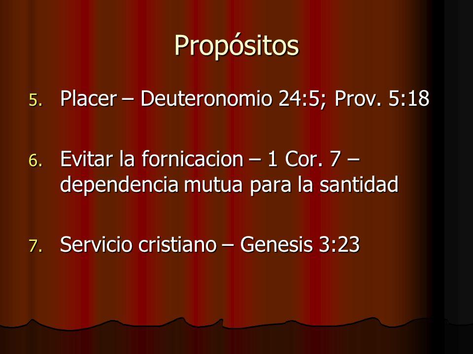 Propósitos Placer – Deuteronomio 24:5; Prov. 5:18