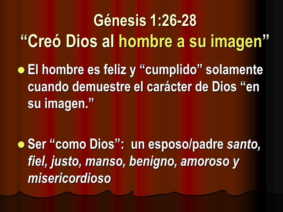 Génesis 1:26-28 Creó Dios al hombre a su imagen