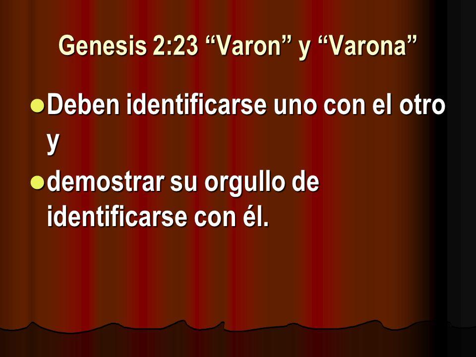 Genesis 2:23 Varon y Varona