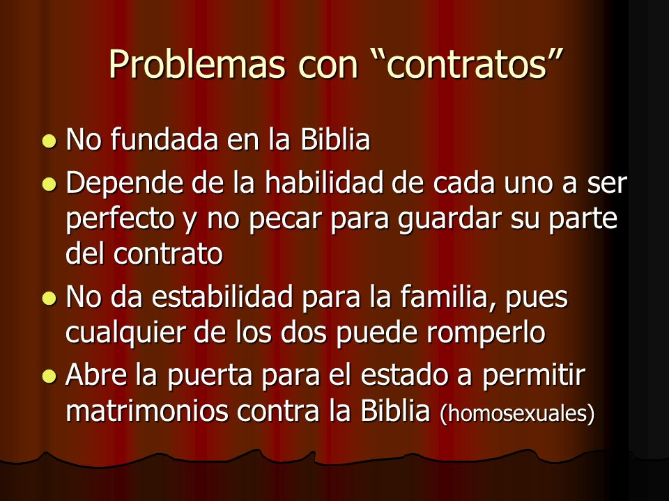 Problemas con contratos