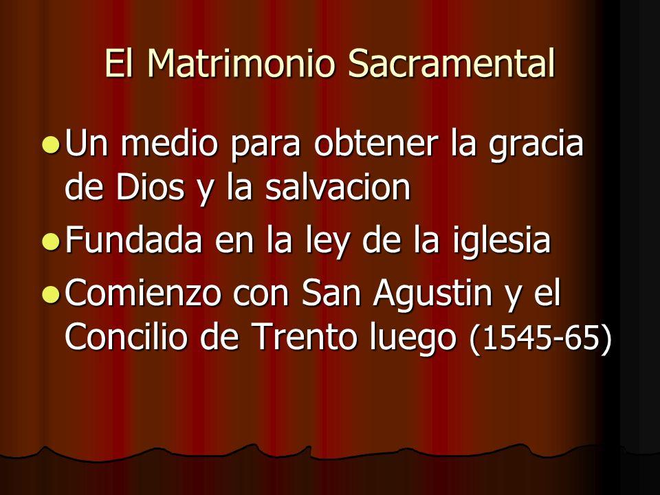 El Matrimonio Sacramental