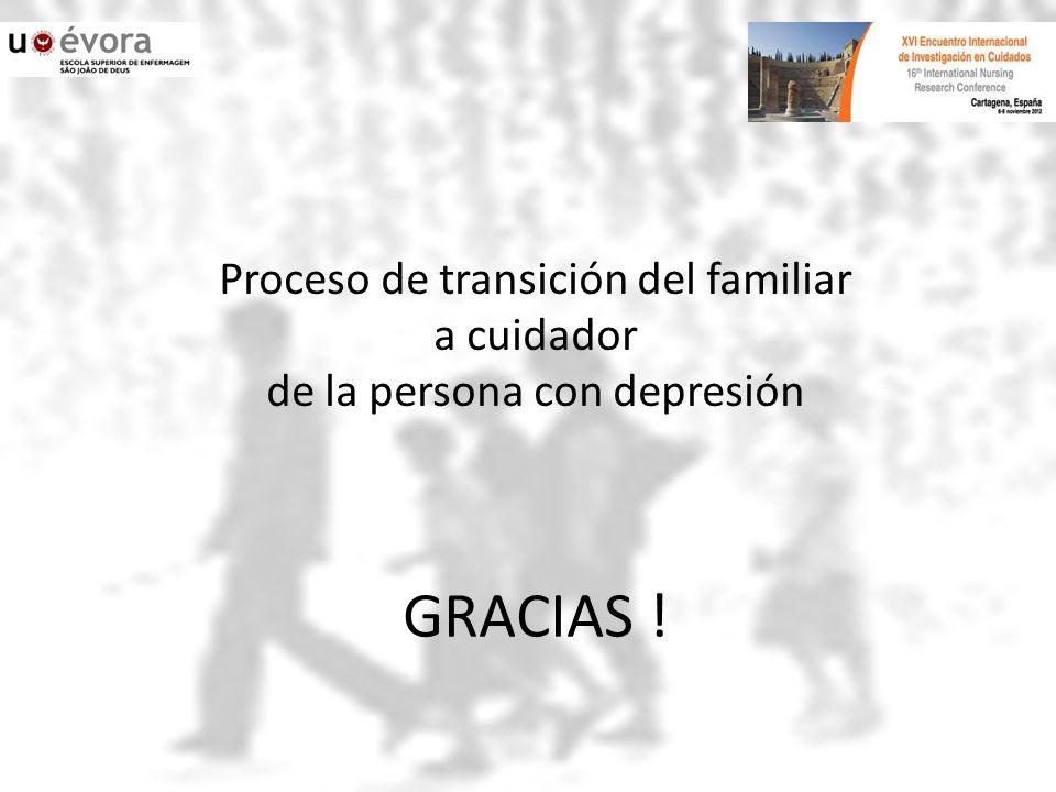 Proceso de transición del familiar a cuidador de la persona con depresión